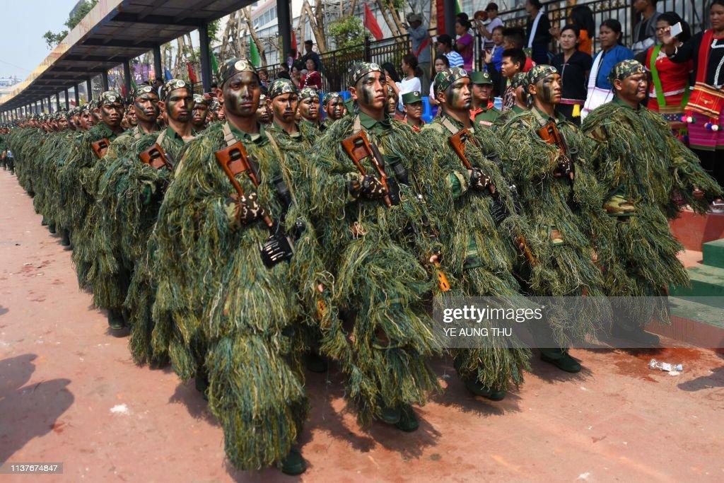 MYANMAR-CONFLICT-UWSA-PARADE : News Photo