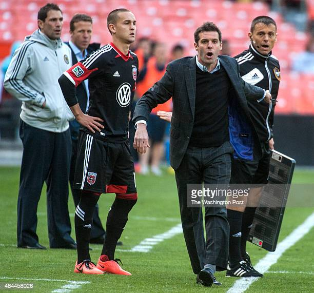 C United's coach Ben Olsen reacts Sunday April 21 2013 in Washington DC United lost to the Union 32