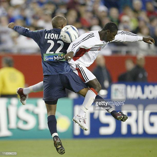 United's Freddy Adu, right, and New England Revolution's Marshall Leanard battle for control of the ball at Gillette Stadium, Saturday, May 29 in...
