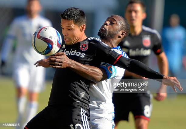 United's Jairo Arrieta left and Montreal's Nigel ReoCoker vie for the ball during the DC United's defeat of the Montreal Impact 1 0 at RFK Stadium in...