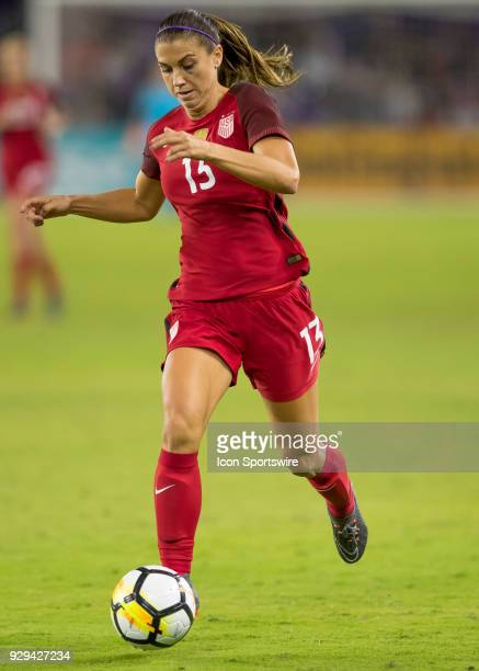 Unites States forward Alex Morgan looks to shoot during theSheBelieves Cup between United States and England on March 7th 2017 at Orlando City...