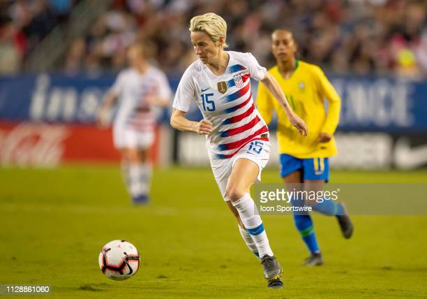 Unites States forward Megan Rapinoe during the She Believes Cup match between the USA and Brazil on March 5 2019 at Raymond James Stadium in Tampa Fl