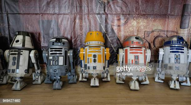 Units are displayed at a stall during the Scarborough Sci-Fi event held at the seafront Spa Complex on April 21, 2018 in Scarborough, England. The...