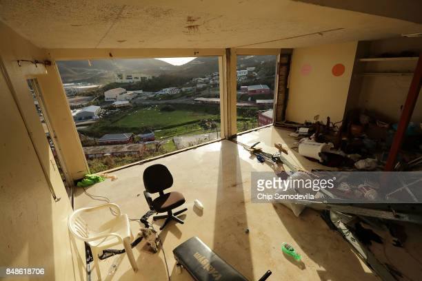 Units inside the Tutu High Rise remain exposed to the outside more than a week after Hurricane Irma destroyed the building September 17 2017 in...