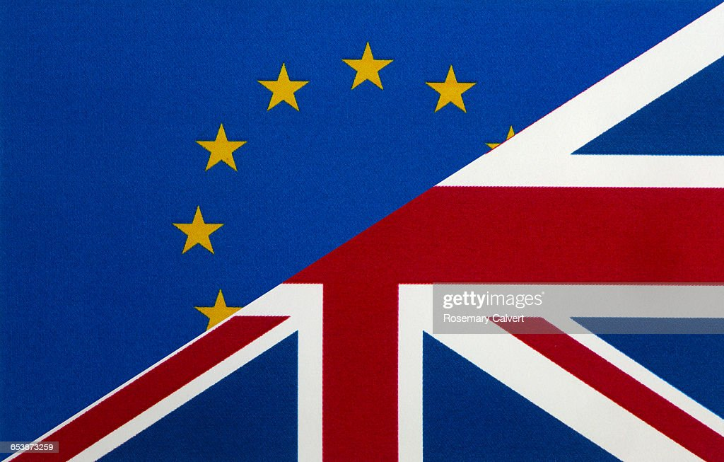 Unity between EU and UK posst Bexit. : Stock Photo