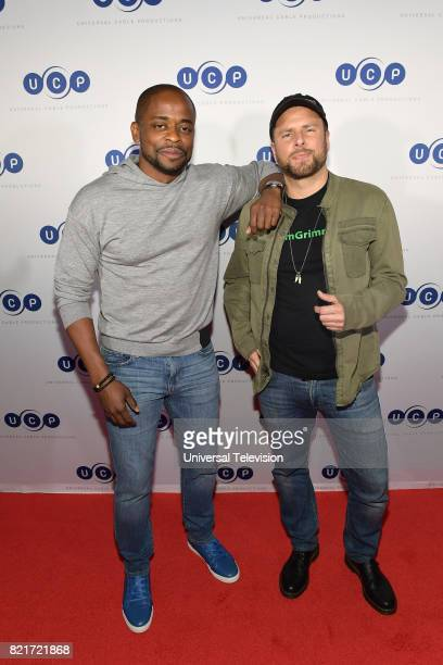 DIEGO 'Universal Cable Productions Talent Party' Pictured Dulé Hill and James Roday