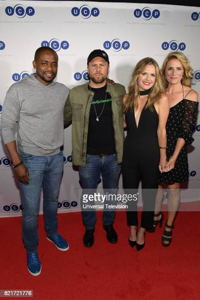 DIEGO 'Universal Cable Productions Talent Party' Pictured Dulé Hill James Roday Maggie Lawson and Kirsten Nelson