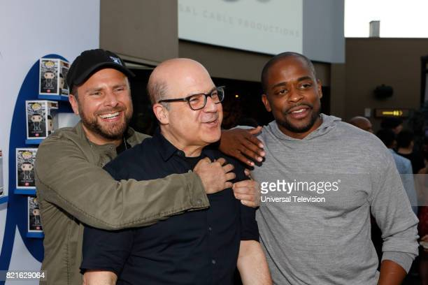 DIEGO 'Universal Cable Productions Talent Party' Pictured James Roday Jeff Wachtel Dulé Hill