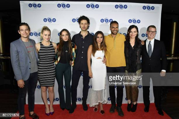 DIEGO 'Universal Cable Productions Talent Party' Pictured Jason Ralph Olivia Taylor Dudley Stella Maeve Hale Appleman Summer Bishil Arjun Gupta Sera...