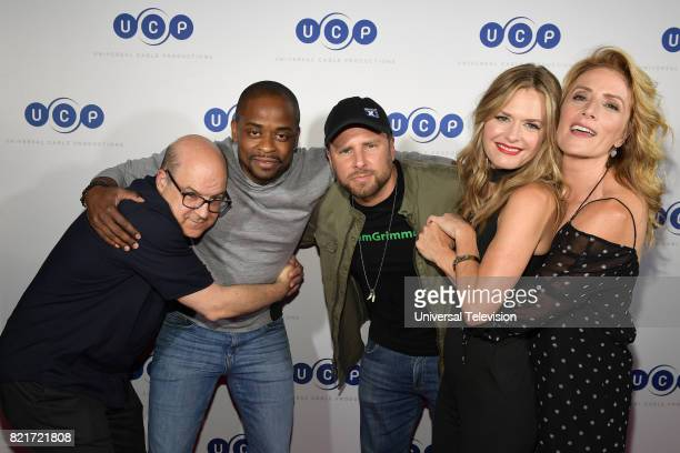DIEGO 'Universal Cable Productions Talent Party' Pictured Jeff Wachtel Dulé Hill James Roday Maggie Lawson and Kirsten Nelson