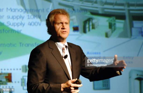 Universal chairman Jeffrey Immelt addresses team owners at the 2006 annual meeting March 27 2006 at the Hyatt Regency Grand Cypress