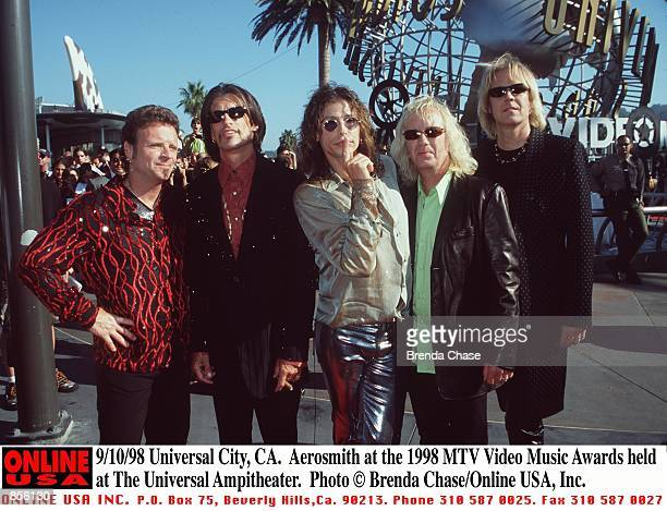 Universal City CA Aerosmith at the 1998 MTV Video Music Awards held at The Universal Ampitheater