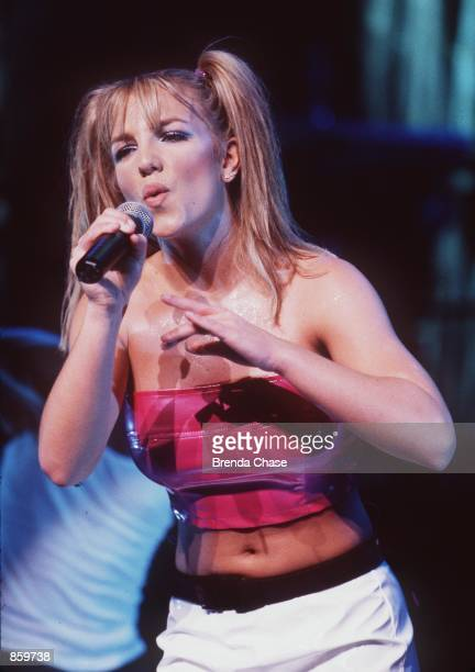 Universal City CA Teen pop sensation Britney Spears performing at the Universal Ampitheater for her Baby One More Time tour Photo by Brenda...