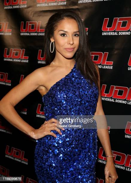 Universal Domino League commentator Brittany Bell attends Universal Domino League's Las Vegas Summer Classic at Palms Casino Resort on June 29 2019...