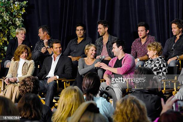 LIVES 'Universal Fan Event' Pictured Back Row Judi Evans Wally Kurth Galen Gering Blake Berris Casey Moss Shawn Christian Front Row Suzanne Rogers...