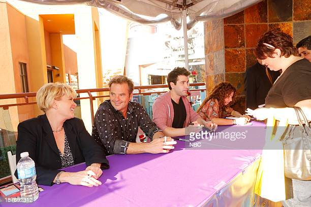 LIVES Universal Fan Event Pictured Judi Evans Wally Kurth Freddie Smith Meredith Scott Lynn at the Universal City Fan Event on November 9 2013
