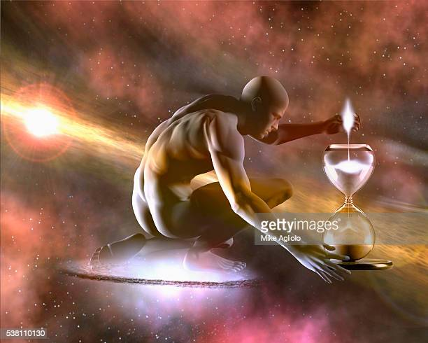 universal man creating time - mike agliolo stock pictures, royalty-free photos & images