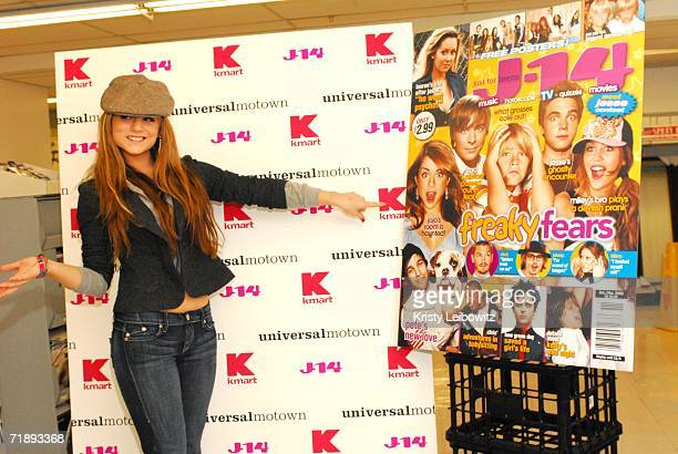 Universal Motown/Blackground recording artist JoJo poses for photos at J14's ''BacktoSchool shopping spree with JoJo'' at the Astor Place KMart store...