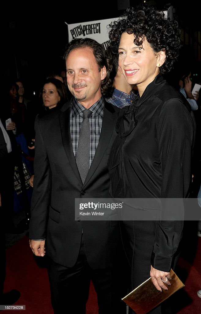 Universal Music Group president of film music publishing Mike Knobloch (L) and Universal Pictures Co-chairman Donna Langley arrive at the premiere of Universal Pictures And Gold Circle Films' 'Pitch Perfect' at ArcLight Cinemas on September 24, 2012 in Hollywood, California.