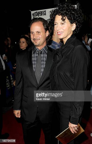 Universal Music Group president of film music publishing Mike Knobloch and Universal Pictures Cochairman Donna Langley arrive at the premiere of...