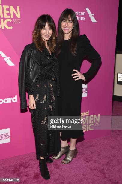 Universal Music Publishing Chairman/CEO Jody Gerson and Capitol Music Group COO Michelle Jubelirer attend Billboard Women In Music 2017 at The Ray...