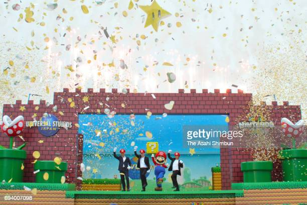 Universal Parks Resorts President of the design and development group Mark Woodbury Universal Studios Japan CEO and president JeanLouis Bonnier Mario...