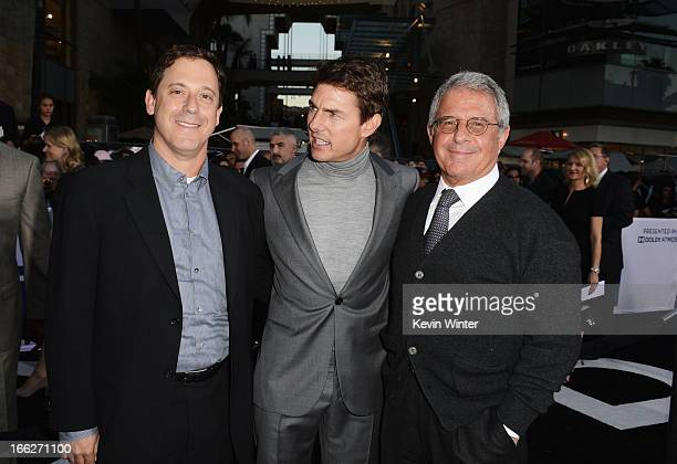 Universal Pictures Chairman Adam Fogelson actor Tom Cruise and Universal Studios President Ron Meyer arrive at the premiere of Universal Pictures'...