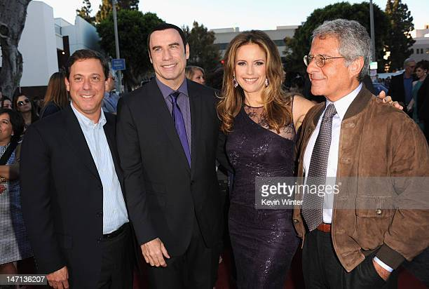 Universal Pictures Chairman Adam Fogelson actors John Travolta Kelly Preston and President and Chief Operating Officer of Universal Studios Ron Meyer...