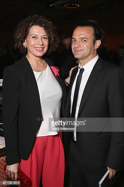 "Universal Pictures Chairman Donna Langley and Ramin Shamshiri attends the 2016 Will Rogers ""Pioneer of the Year"" Dinner Honoring Donna Langley at..."