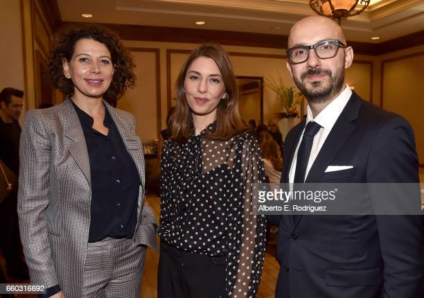 Universal Pictures Chairman Donna Langley director Sofia Coppola and Focus Features Chairman Peter Kujawski at CinemaCon 2017 Focus Features...