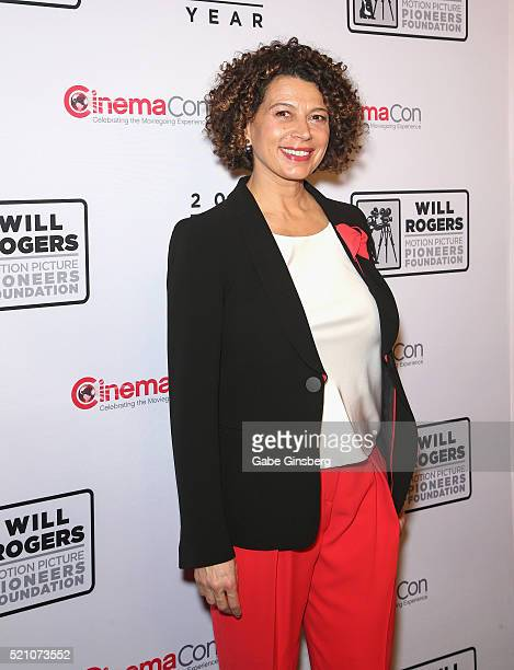 Universal Pictures Chairman Donna Langley recipient of the Pioneer of the Year award attends the 2016 Will Rogers Pioneer of the Year Dinner honoring...