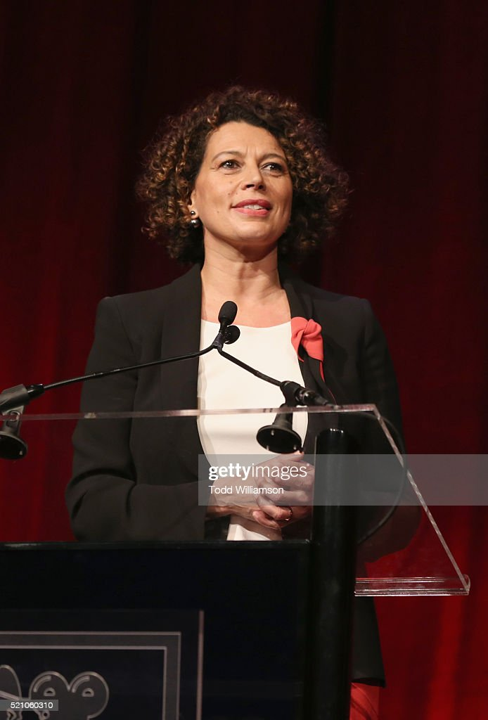 """Universal Pictures Chairman Donna Langley speaks onstage during the 2016 Will Rogers """"Pioneer of the Year"""" Dinner Honoring Donna Langley at Caesars Palace during CinemaCon, the official convention of the National Association of Theatre Owners, on April 13, 2015 in Las Vegas, Nevada."""
