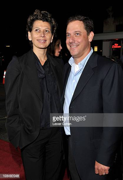 Universal Pictures CoChairman Donna Langley and Universal Pictures Chairman Adam Fogelson arrive at the Los Angeles premiere of Couples Retreat held...