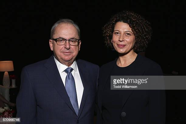 Universal Pictures Copresident Nick Carpou and Universal Pictures Chairman Donna Langley attend CinemaCon 2016 as Universal Pictures Invites You to...