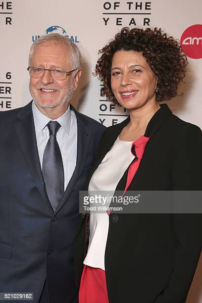 """Universal Pictures President of Distribution Duncan Clark and Universal Pictures Chairman Donna Langley attend the 2016 Will Rogers """"Pioneer of the..."""