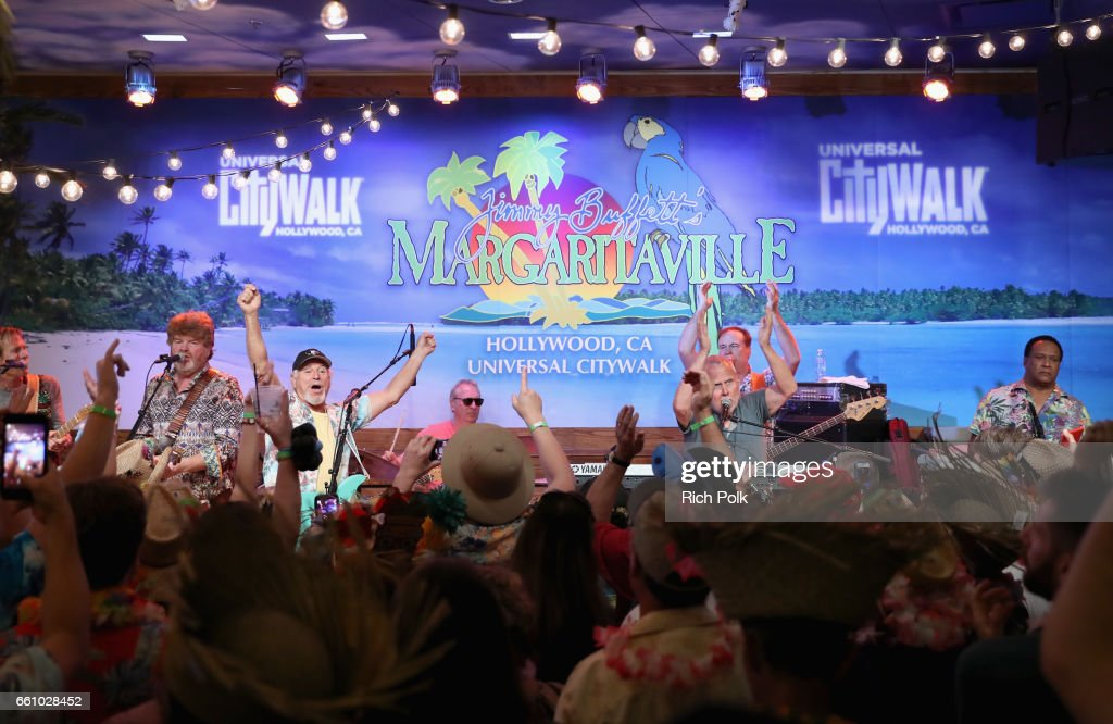 Universal Studios Hollywood toasted the arrival of Jimmy Buffett's Margaritaville restaurant to Universal CityWalk, with an exciting performance by Jimmy Buffett and the Coral Reefer Band