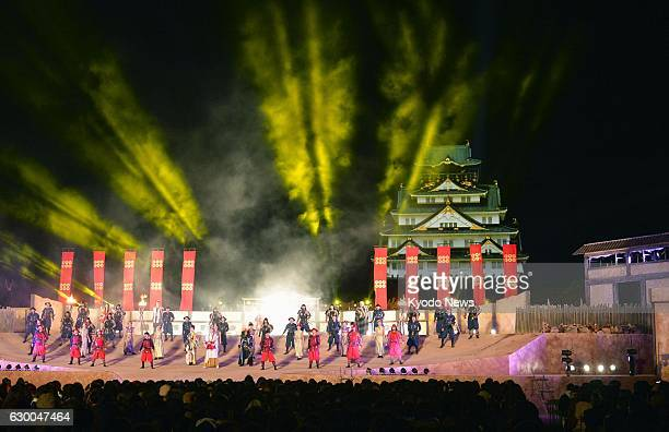 Universal Studios Japan unveils to the press 'Sengoku The Real at Osaka Castle' an entertainment show themed on the early 17th century siege of Osaka...