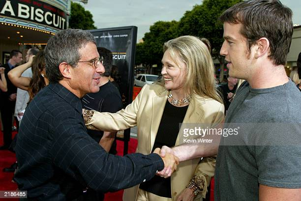 Universal Studio's President and chief operating officer Ron Meyer Faye Dunaway with her son attend the world premiere of the Universal Pictures film...
