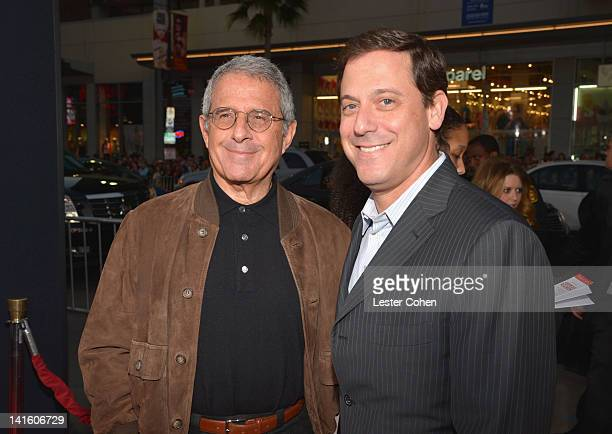 Universal Studios President and COO Ron Meyer and Universal Pictures Chairman Adam Fogelson arrive at the 'American Reunion' Los Angeles Premiere...