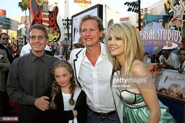 Universal Studios President Chief Operating Officer Ron Meyer with his daughter tv personality Carson Kressley and actress Heather Locklear arrive at...
