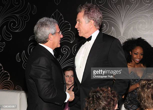 Universal Studios President/CEO Ron Meyer and actor/producer Warren Beatty attend NBCUniversal/Focus Features Golden Globes Viewing and After Party...