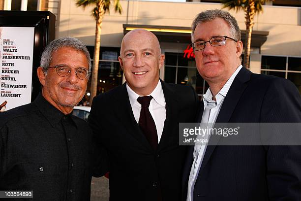 Universal Studios President/CEO Ron Meyer CAA's Bryan Lourd and Universal Studios Chairman David Linde arrive at the Inglourious Basterds Premiere...