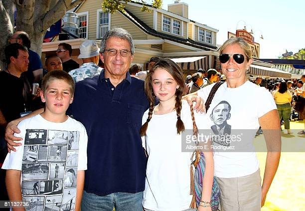 Universal Studios' Ron Meyer and family arrive at the Launch celebration party for The Simpson's Ride at Universal Studios Hollywood on May 17 2008...