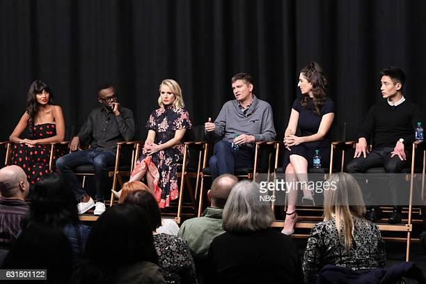 EVENTS 'Universal Television TCA Studio Day' Pictured Jameela Jamil William Jackson Harper Kristen Bell Michael Schur Executive Producer D'Arcy...