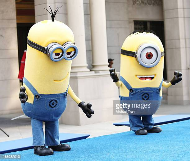 Universal's 'minions' character from the movie 'Å' attend the 2nd Annual Miles for Melanoma 5K Run/Walk held at Universal Studios Hollywood backlot...