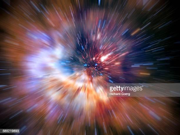 Universe big bang zoom