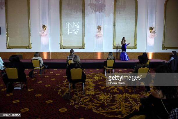 Universe Omayra La Bella speaks at NYFW hiTechMODA Spotlight on the New Era of Fashion - NYFW hiTechMODA - Mysterious by N.P.N. - Collection: Couleur...