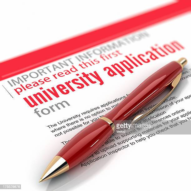 university application form - college application stock photos and pictures