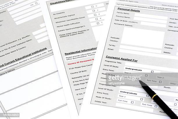 university application form - application form stock pictures, royalty-free photos & images
