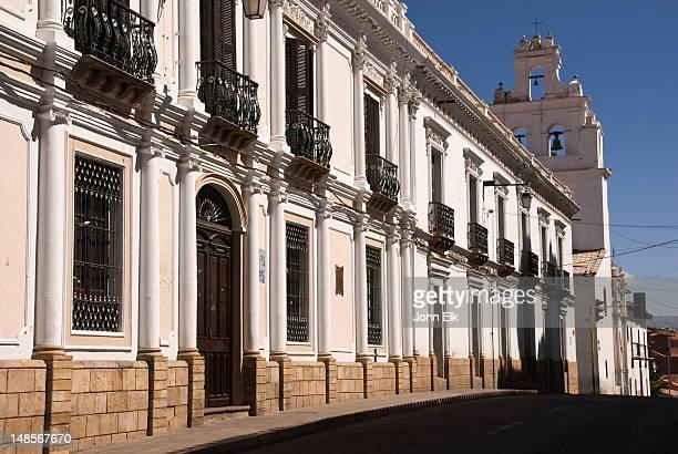 university buildings at universidad andina simon bolivar. - universidad stock pictures, royalty-free photos & images